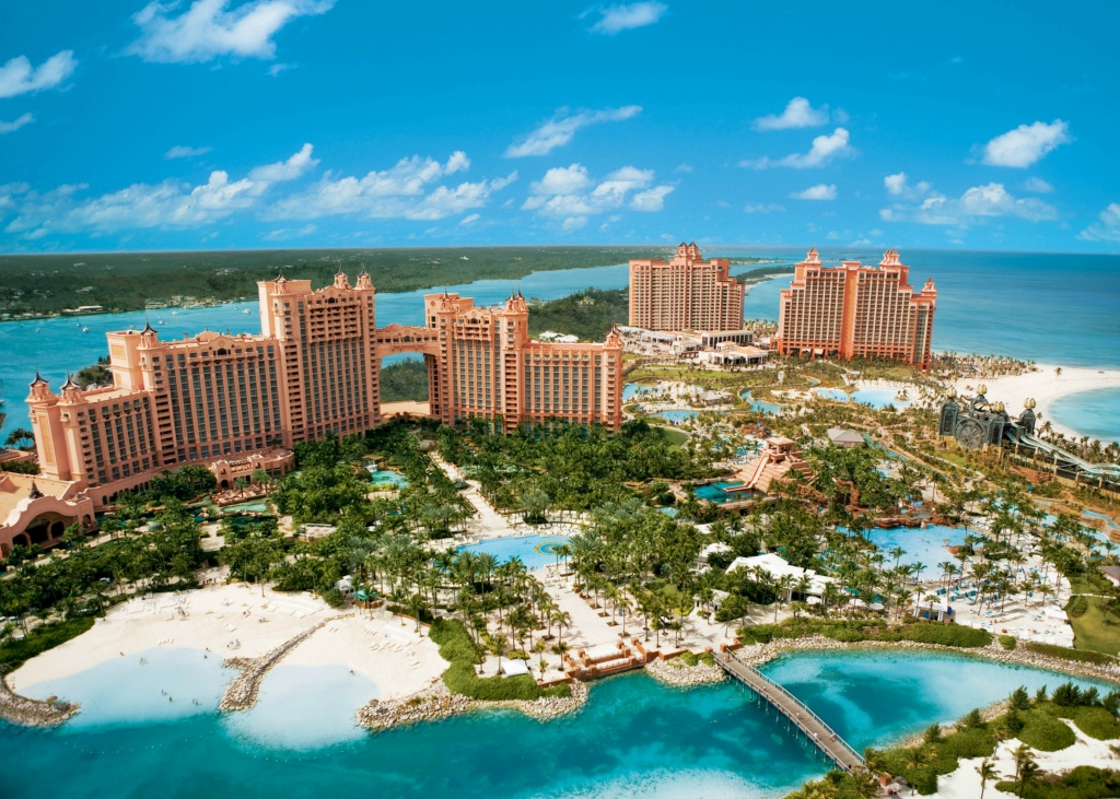 Aerial of Atlantis, Paradise Island, Bahamas _2_High